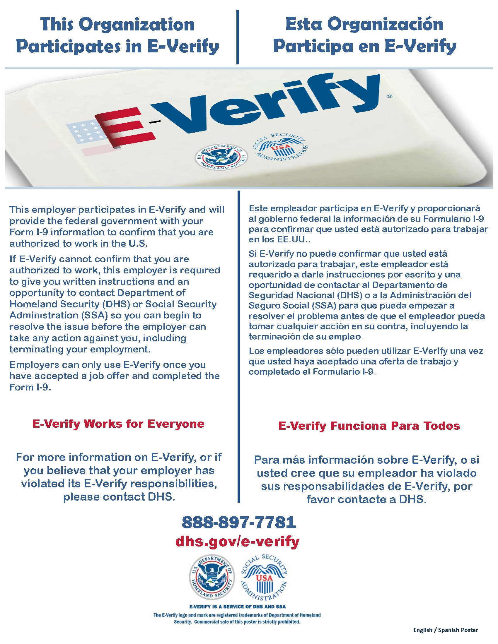 E Verify Participation Poster ES1